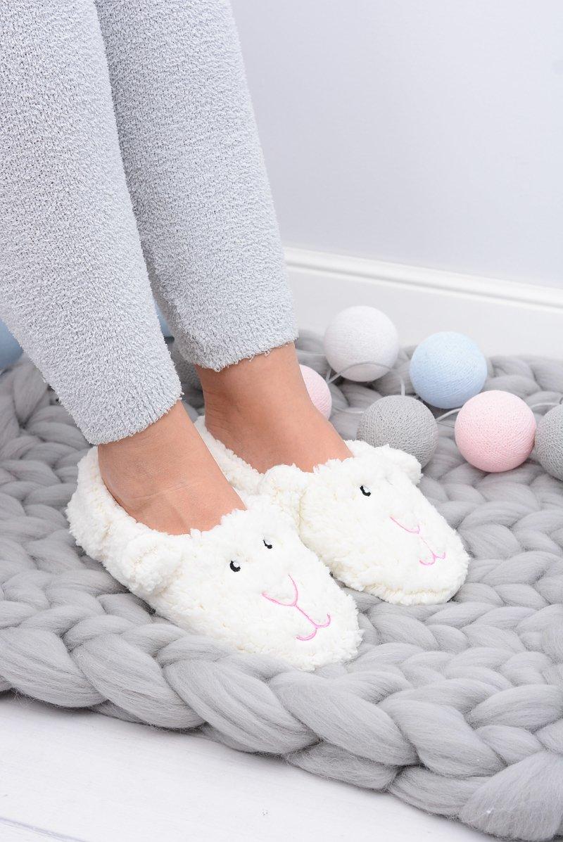 SOXO Women's Home Slippers Dog White