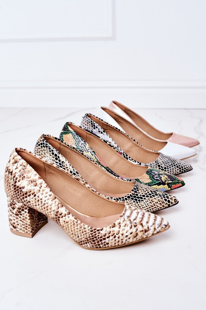 Satin Pumps Lewski Shoes 2801 Silver