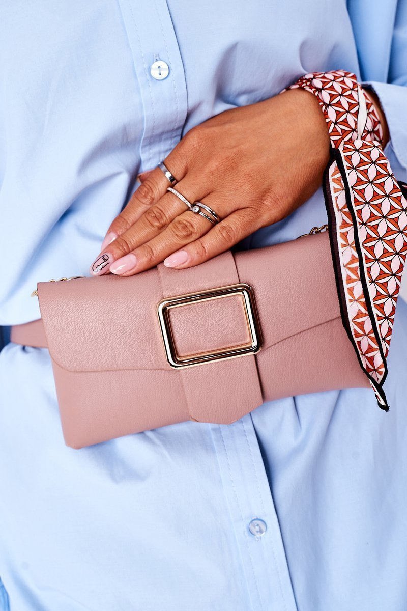 Small Purse Kidney Bag 2in1 Bruno Rossi Pink