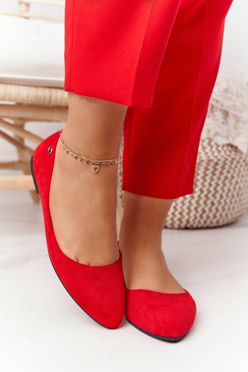 Suede Ballerinas Sergio Leone BL622 Red