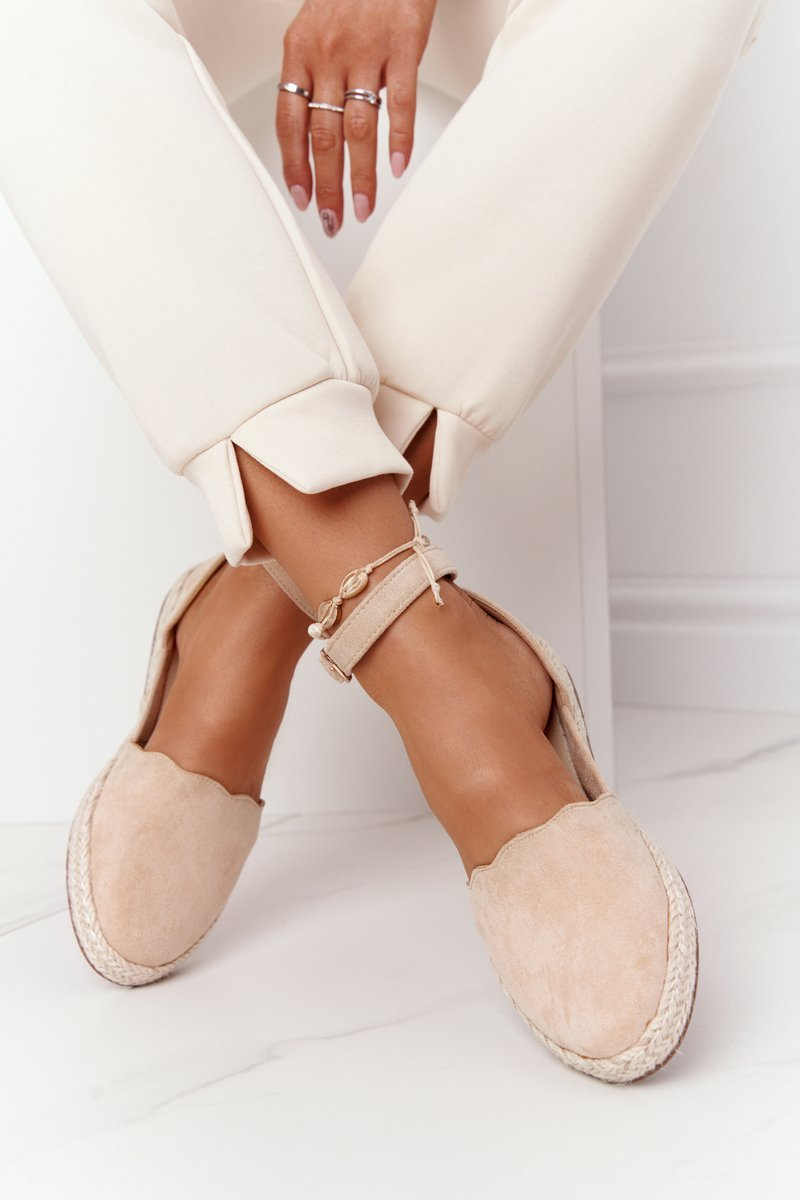 Suede Espadrilles On A Straw Sole S.Barski Beige
