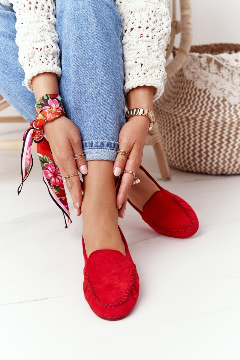 Suede Loafers Sergio Leone MK722 Red