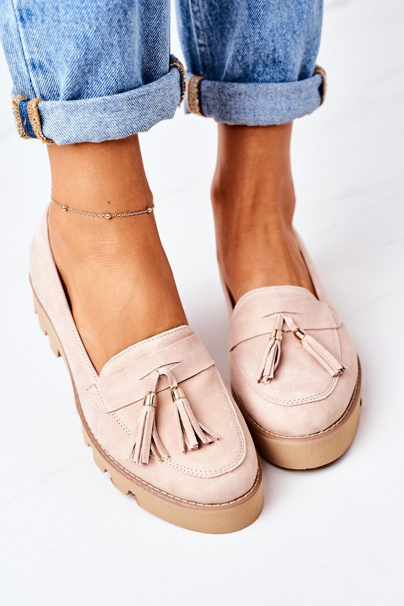 Suede Moccasins Lewski Shoes 3053 Cappuccino
