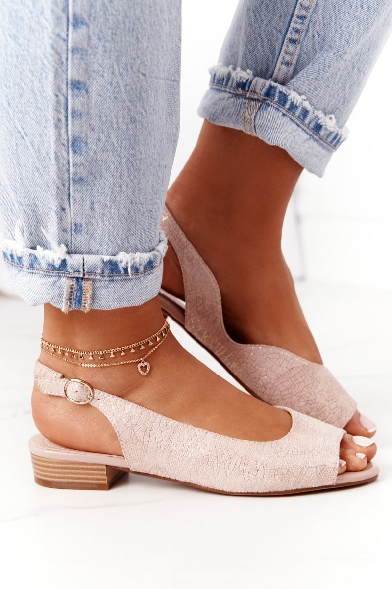 Suede Sandals Sergio Leone SK807 Pink