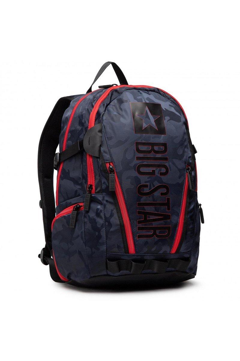 Travel Backpack Big Star HH574179 Black-Red