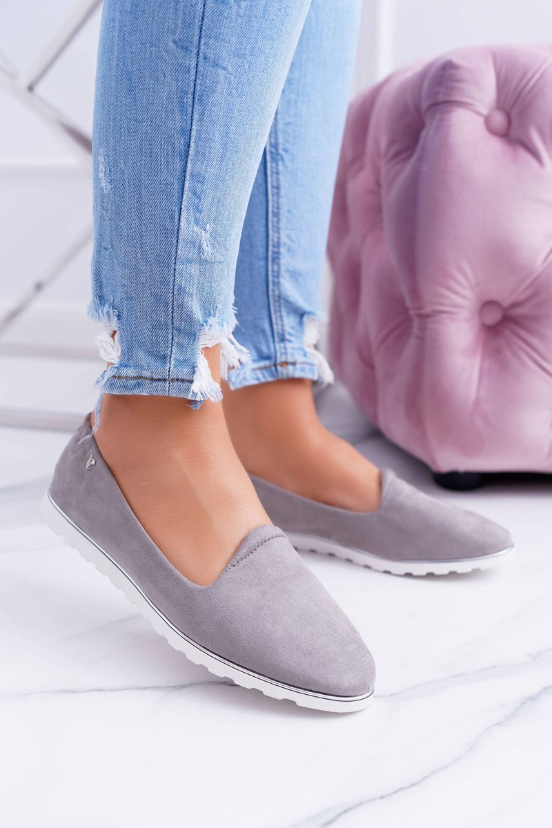 Vices | Gray Suede Ballerina Imany