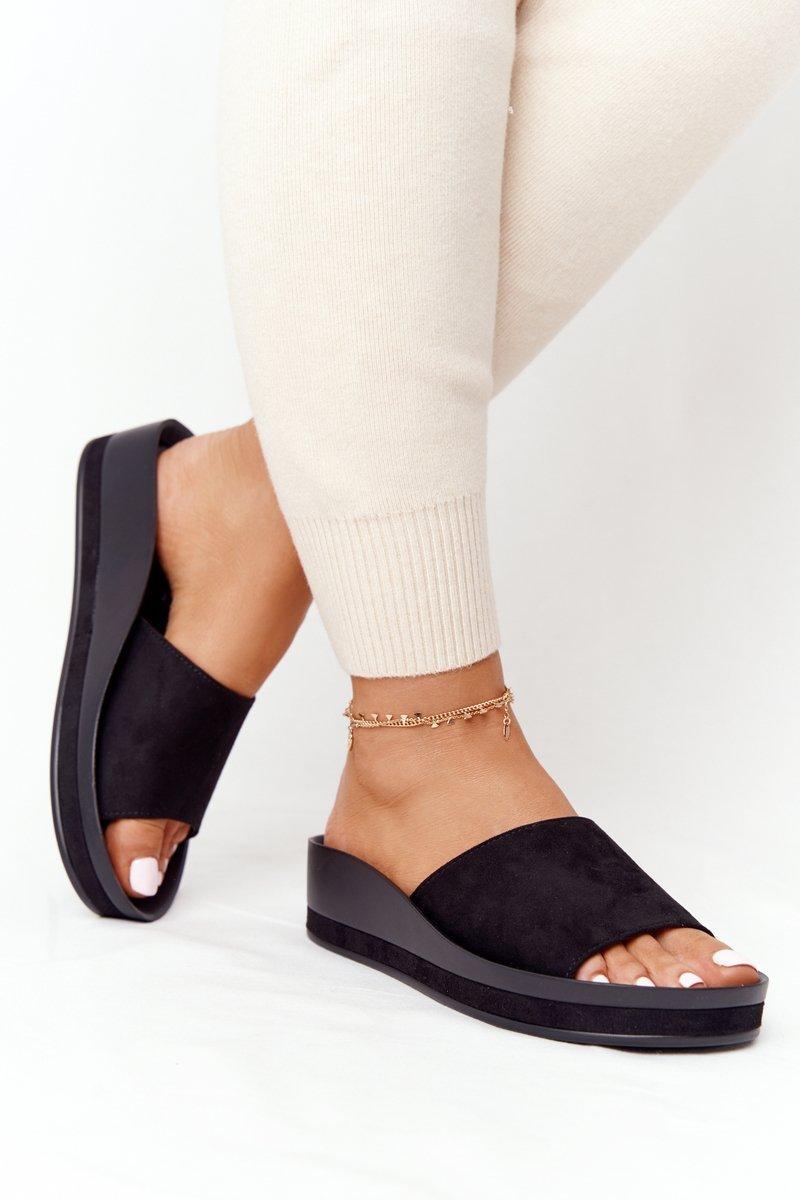 Wedge Slippers Vinceza 21-17113 Black