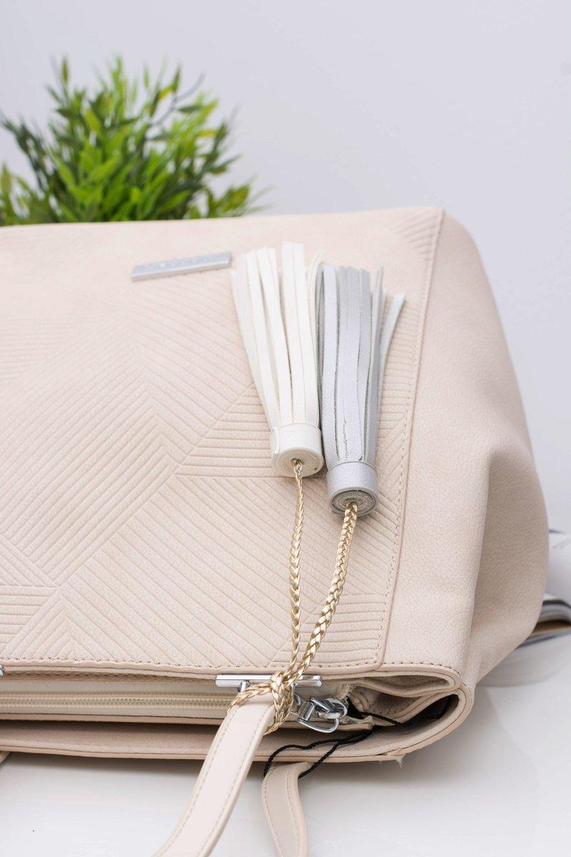 Women Beige Bag Shopper Monnari Sack