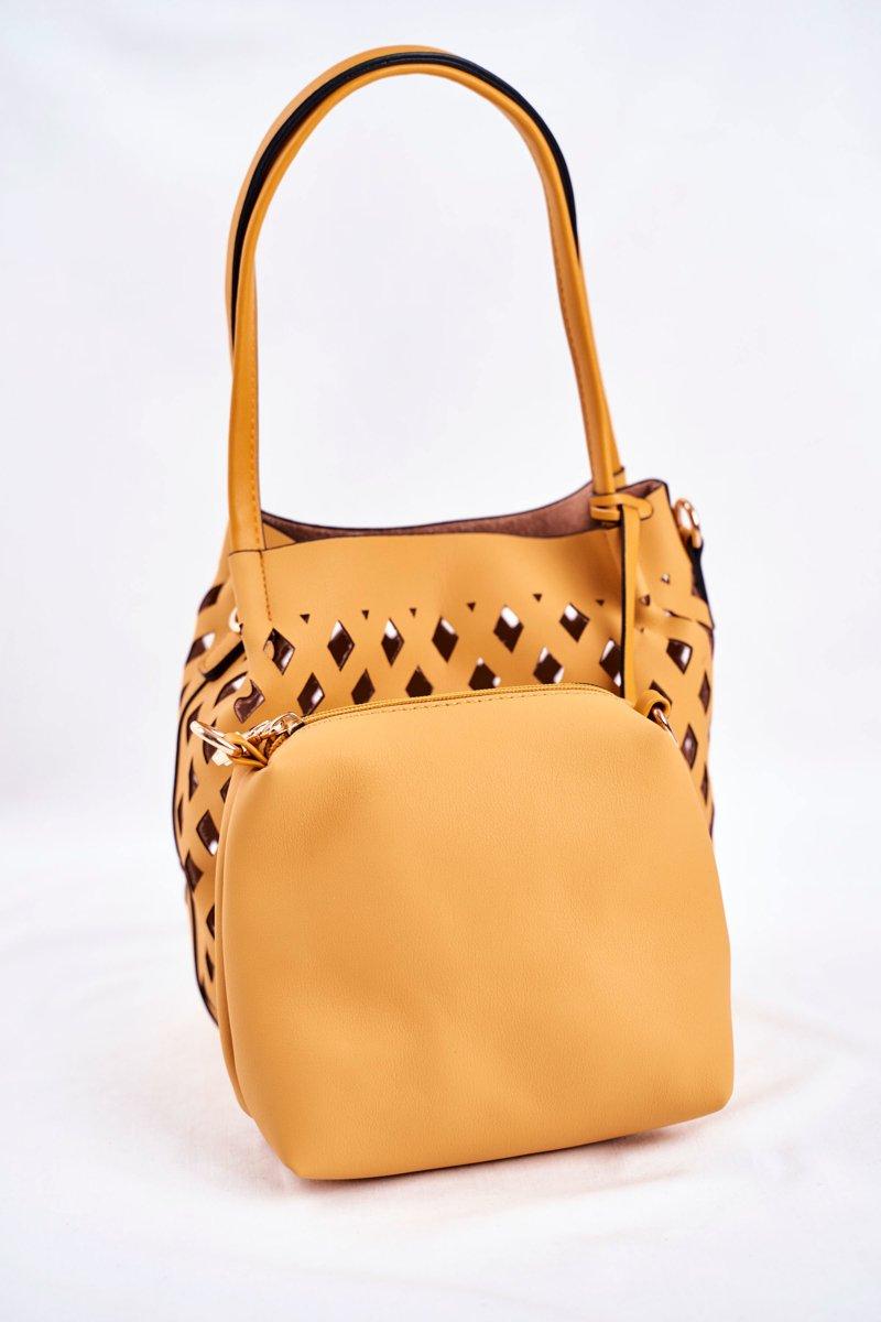 Women's Bag Nobo Shopper Bag Yellow NBAG-I3690-C002
