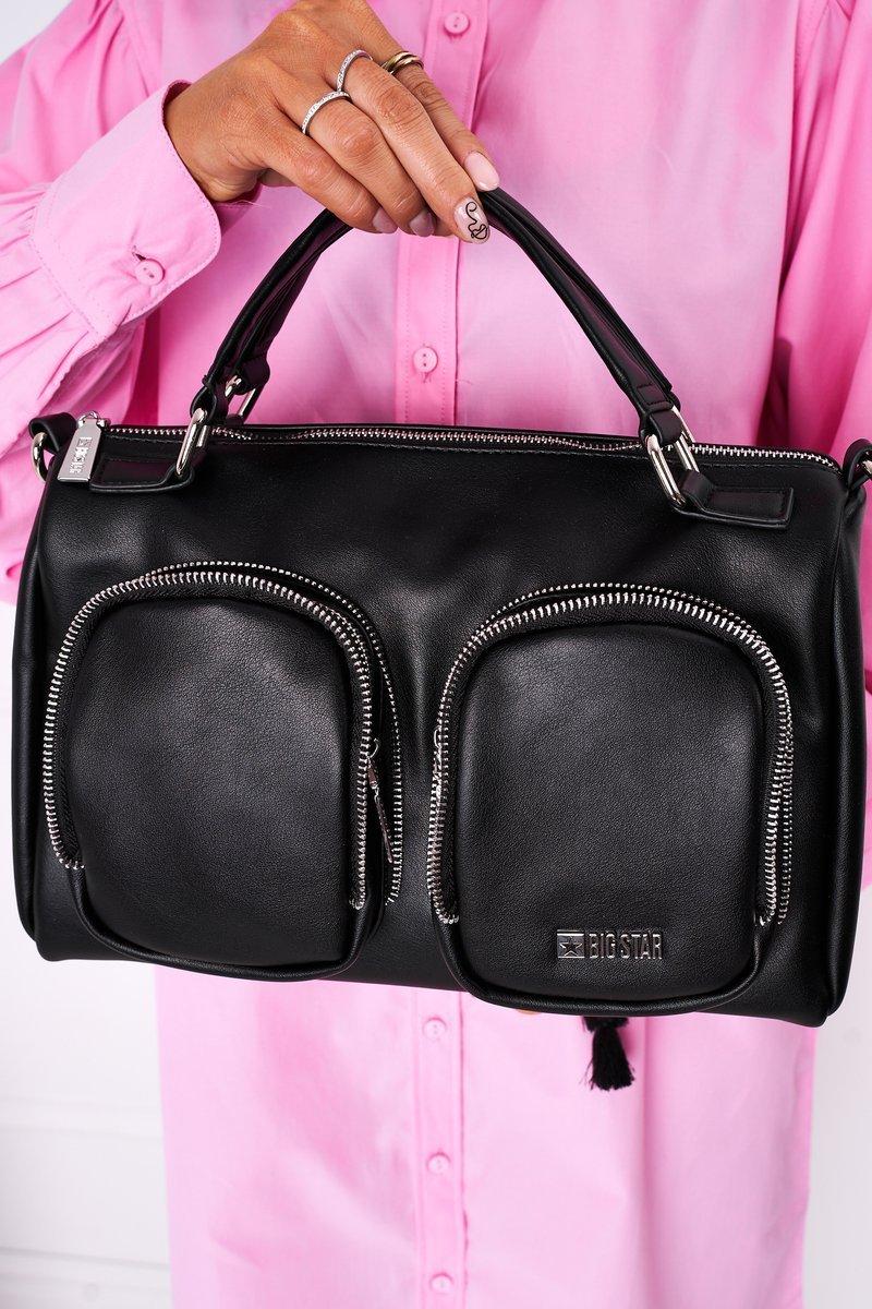Women's Bag With Pockets Big Star HH574145 Black