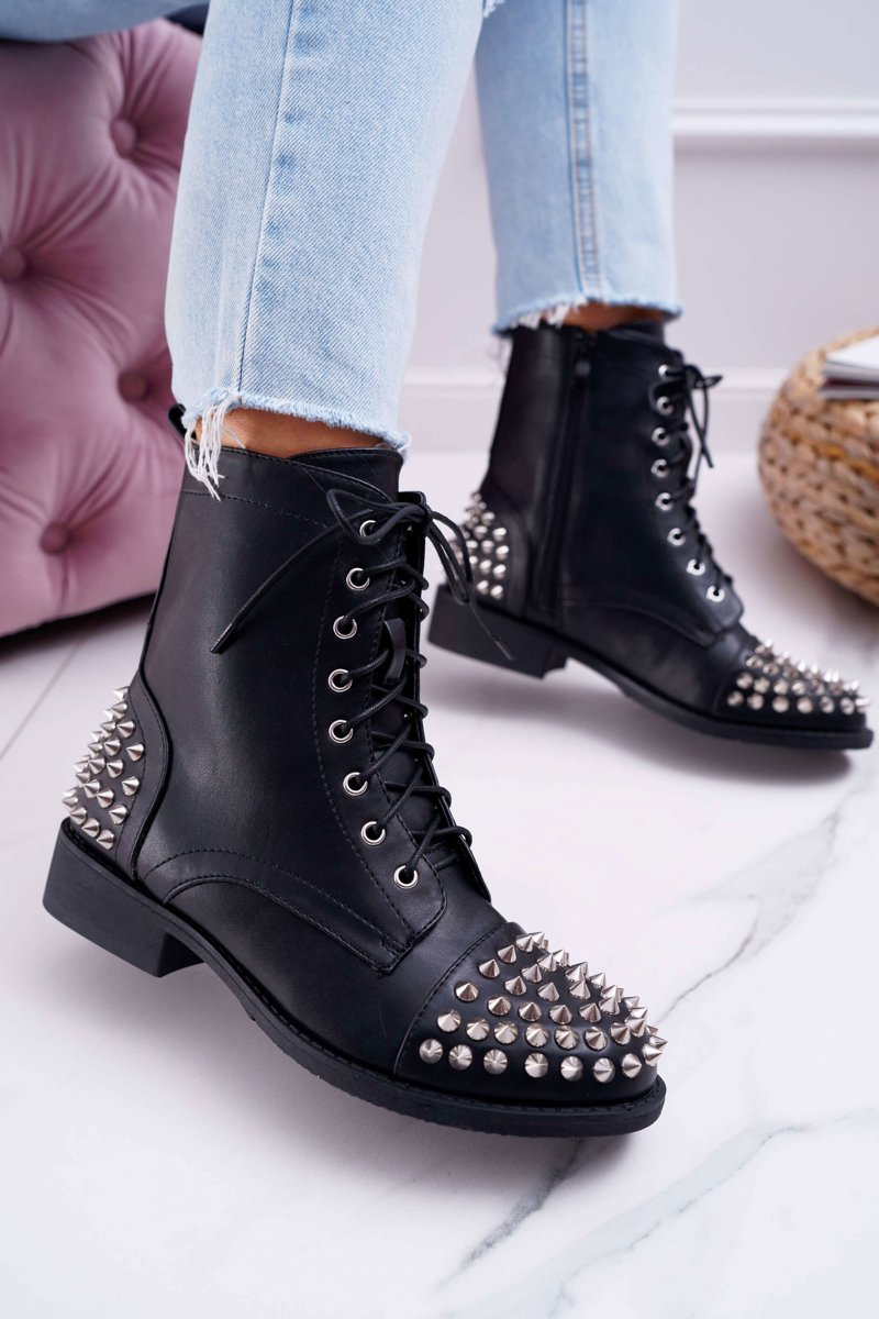 Women's Boots Lu Boo Black Workers with Studs Tension
