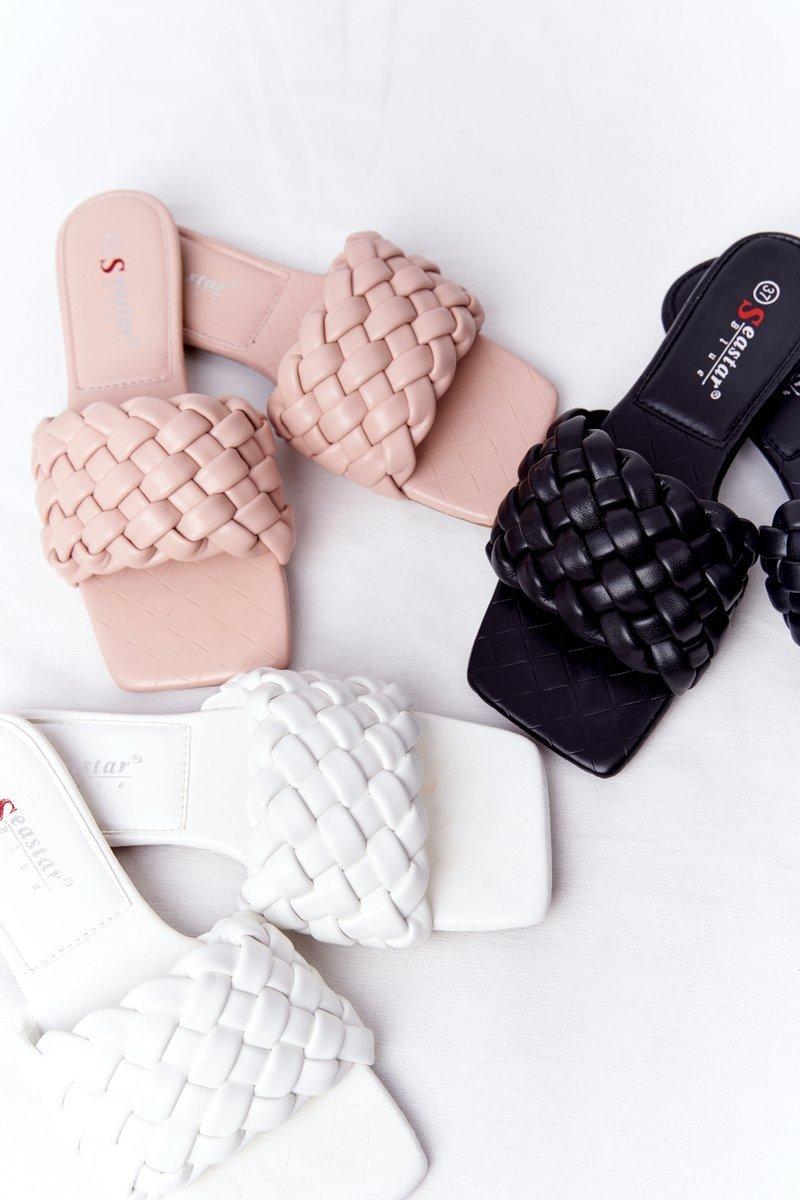 Women's Braided Slippers White Cheryl