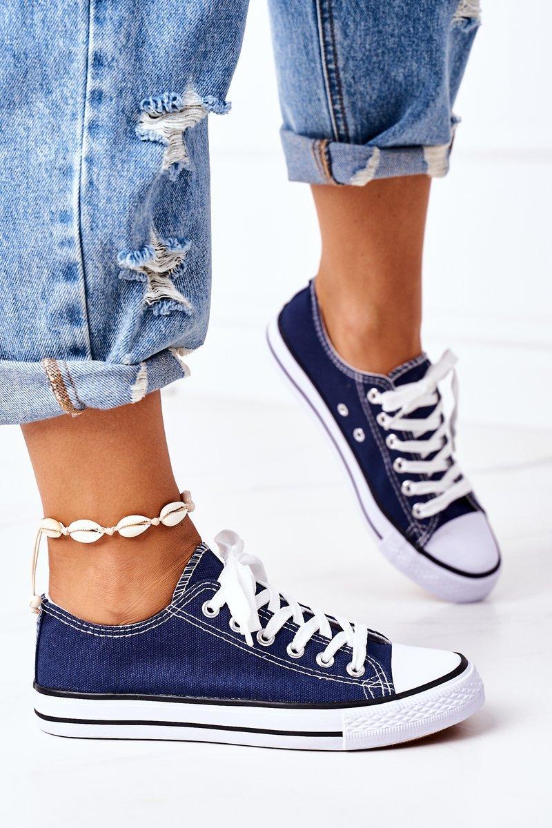Women's Classic Sneakers Dark Blue Omerta