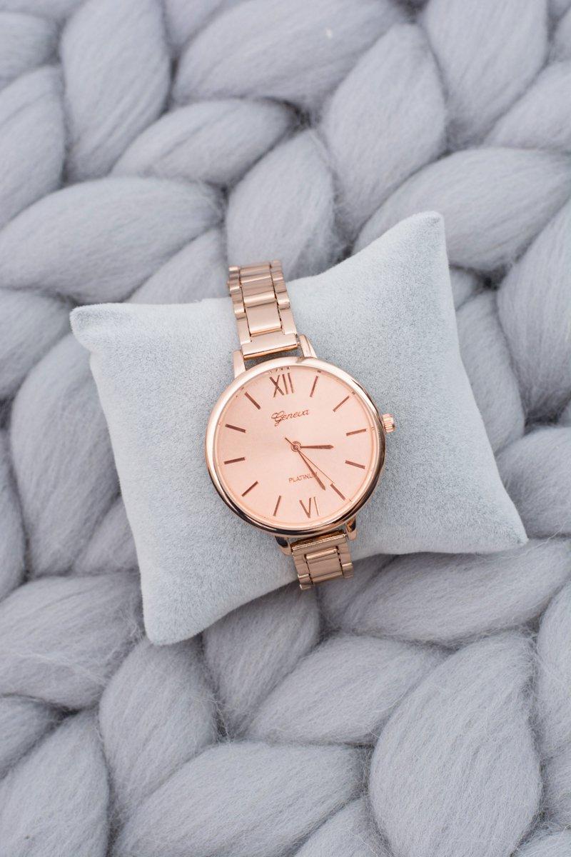 Women's Copper Stylish Watch with Bracelet