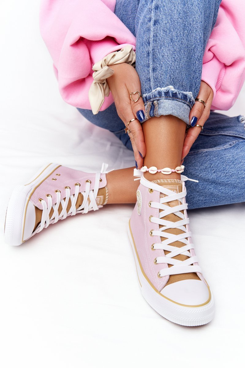 Women's High Sneakers Big Star HH274447 Pink