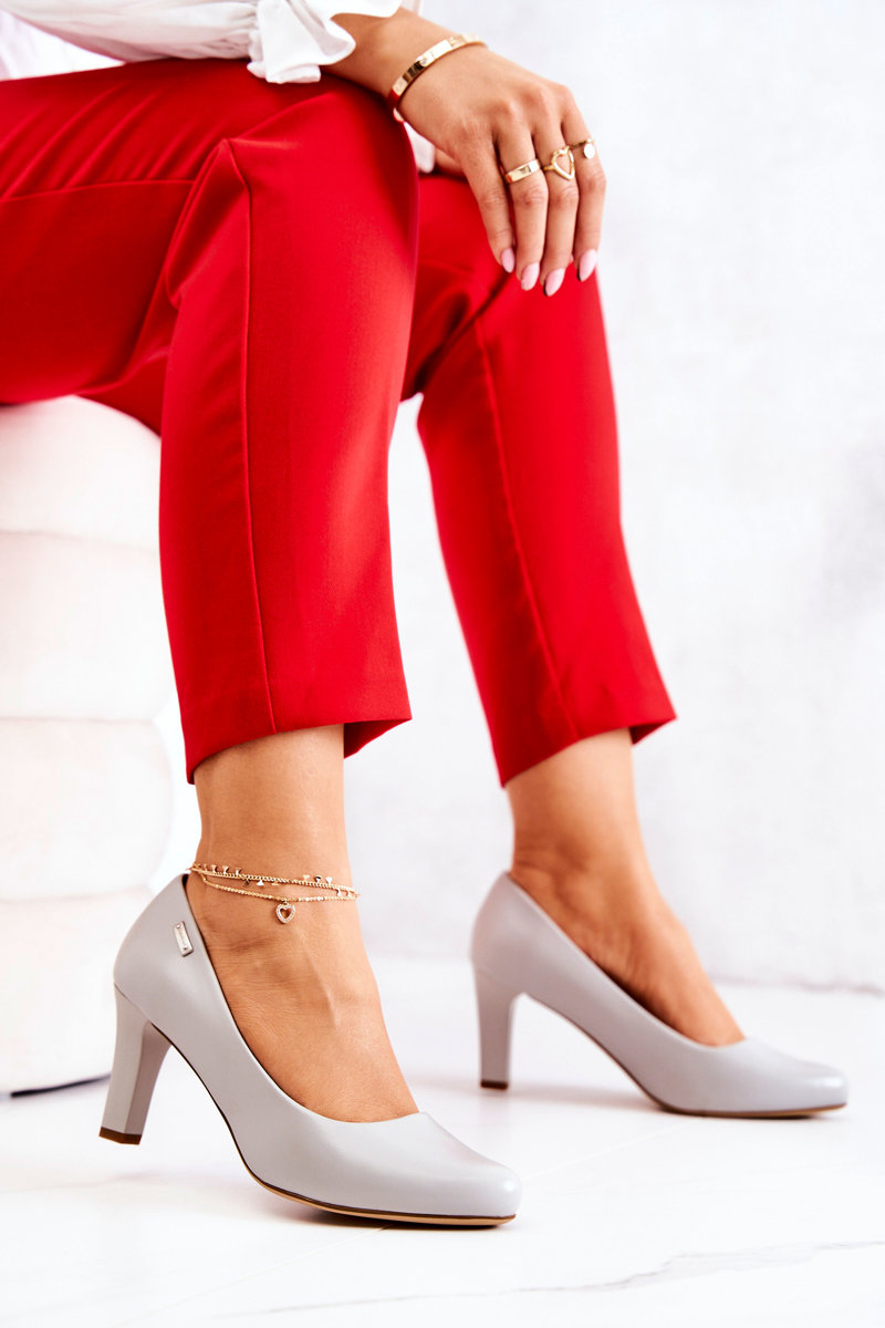 Women's Pumps Sergio Leone Grey Matte Orsola