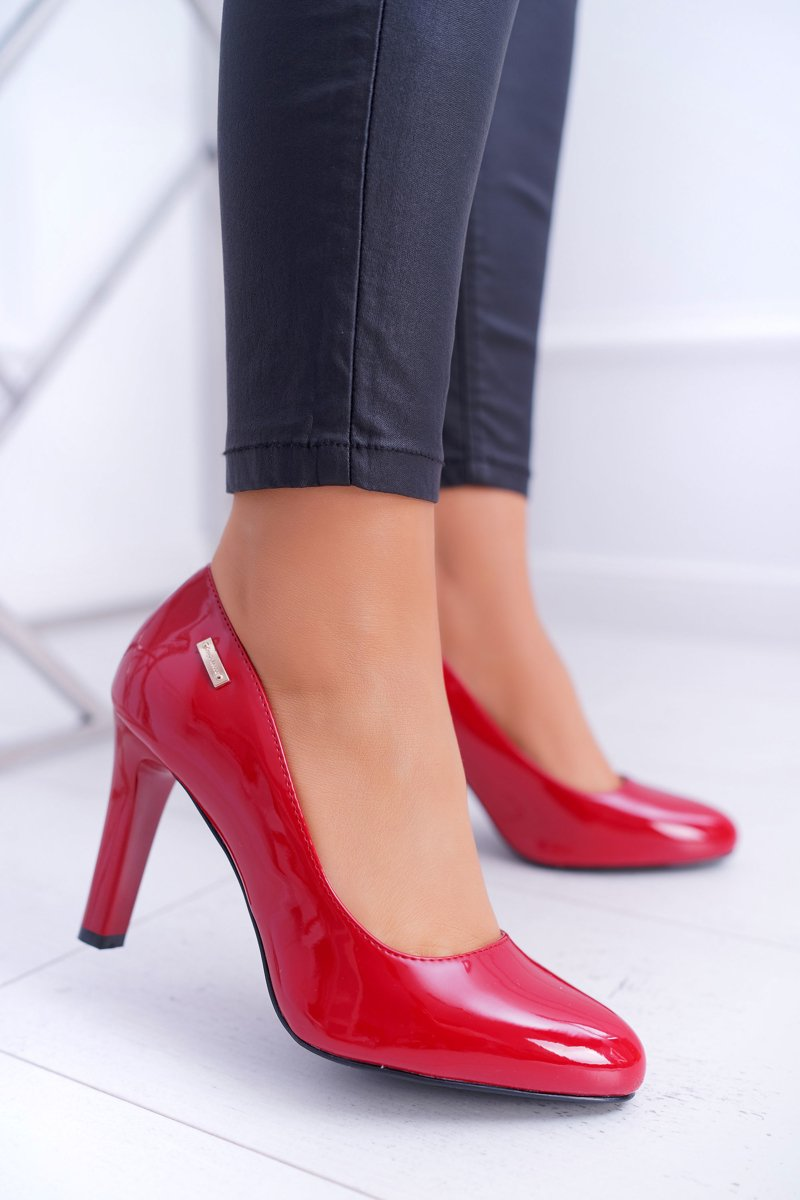 Women's Pumps Varnished Red Sergio Leone Campbell