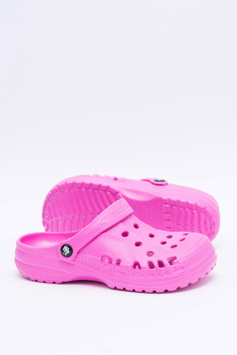 Women's Slides Crocs Pink Foam EVA
