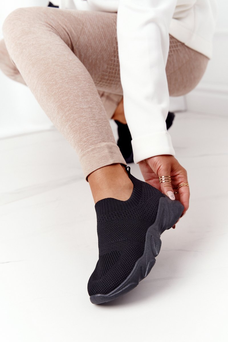 Women's Slip-on Sneakers Black Yoga Class