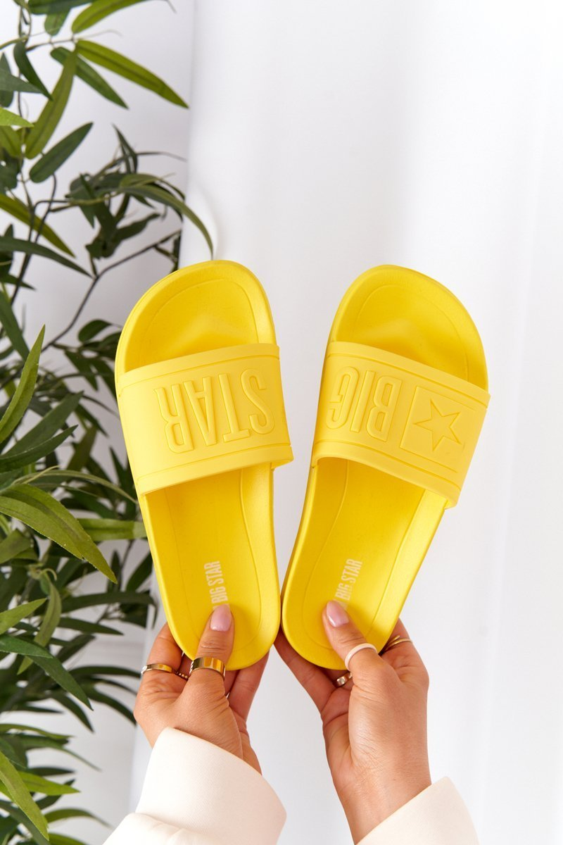 Women's Slippers Big Star HH274A040 Yellow