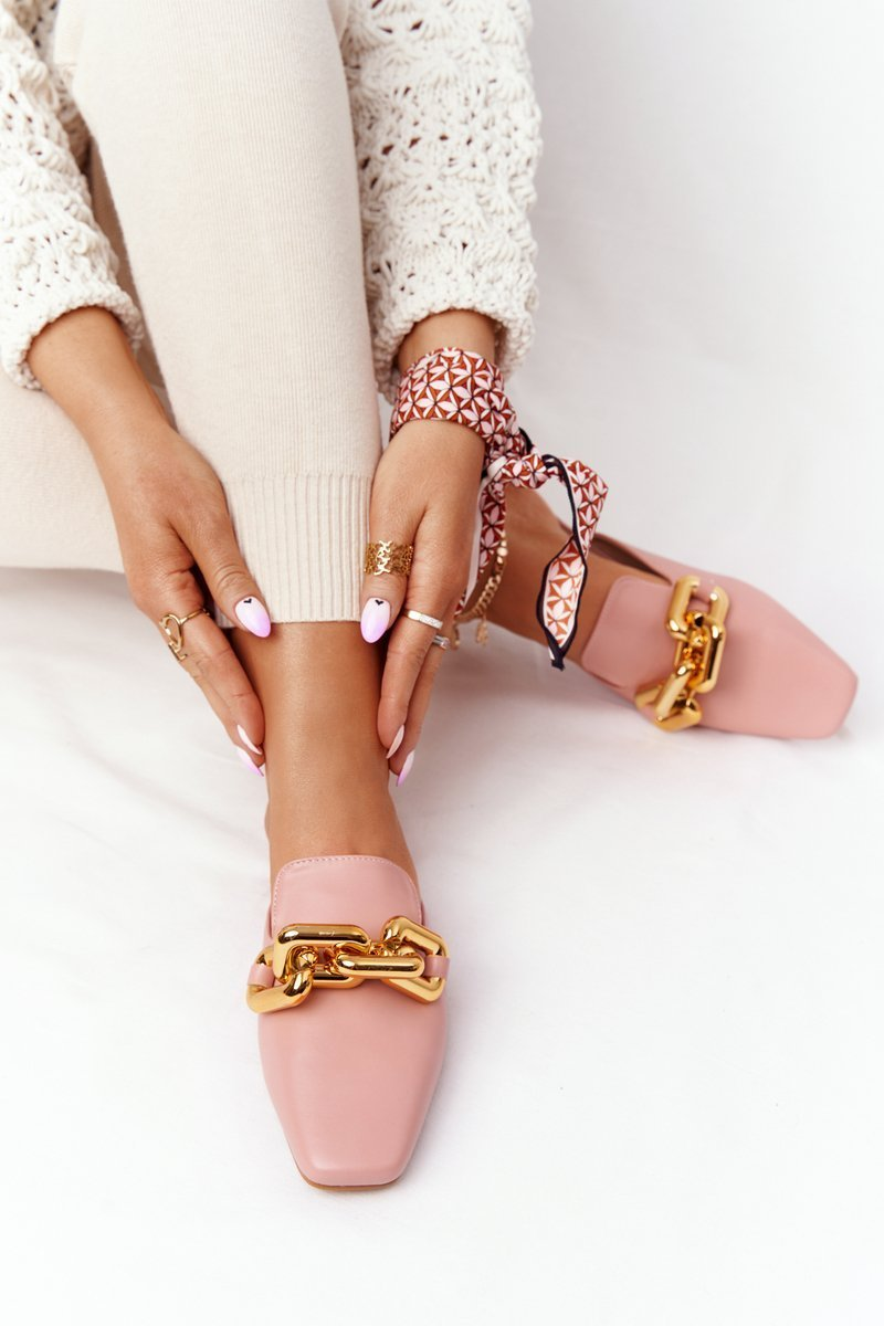 Women's Slippers With Chain Pink Call On Me