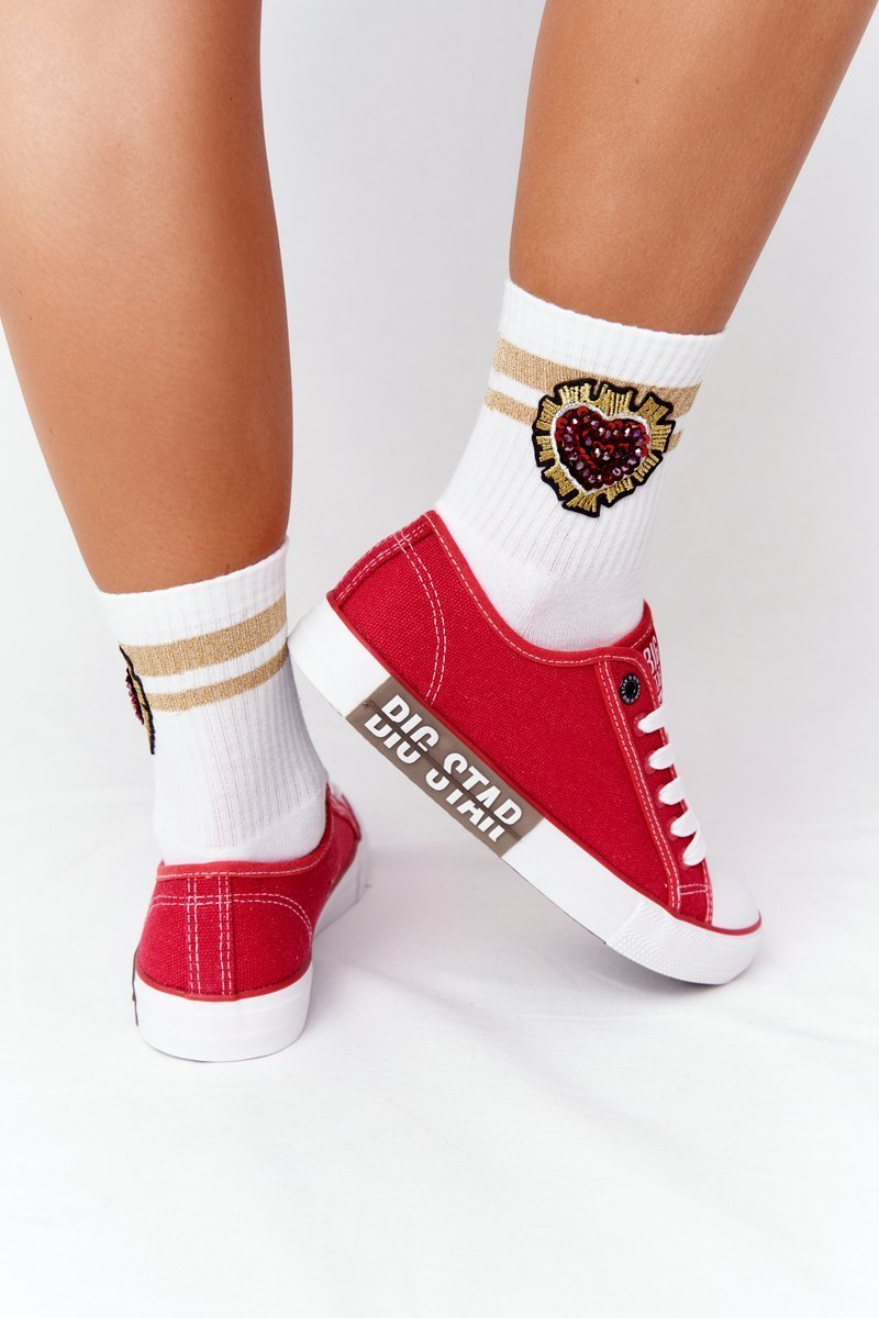 Women's Sneakers BIG STAR HH274115 Red