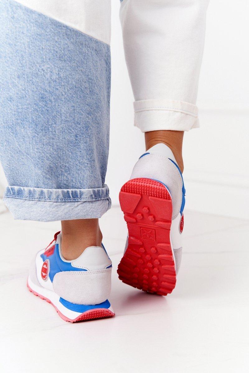 Women's Sneakers Memory Foam Big Star HH274526 White-Blue
