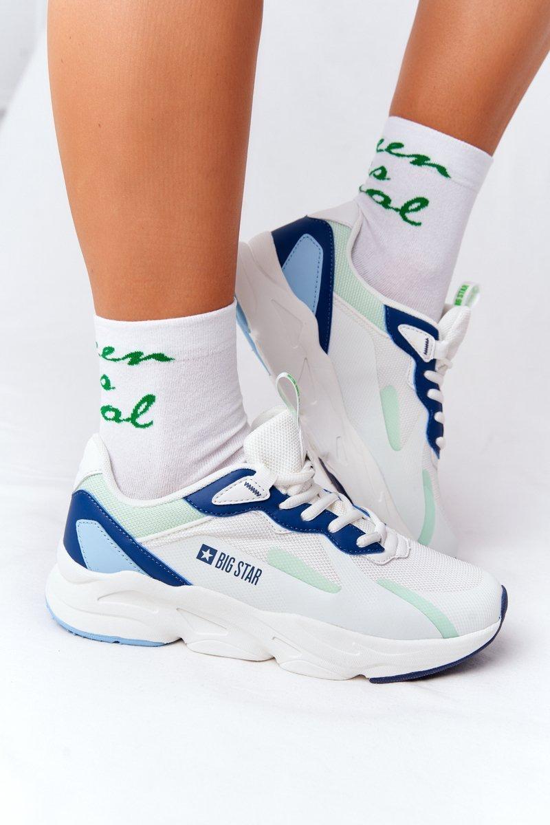 Women's Sneakers Memory Foam Big Star HH274810 White-Green