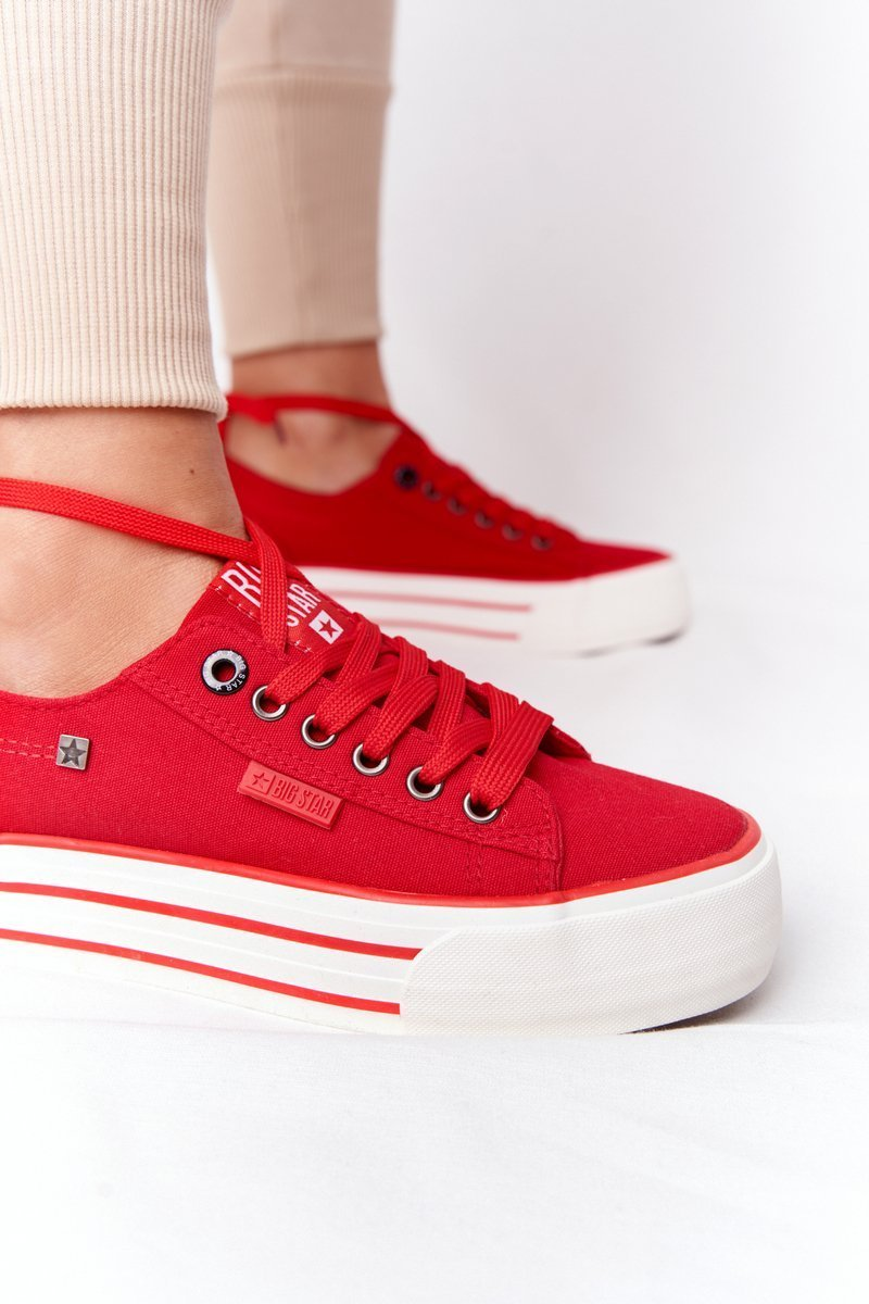 Women's Sneakers On A Platform BIG STAR HH274053 Red
