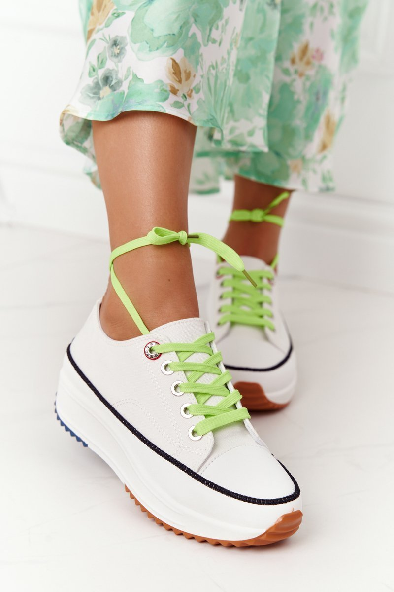 Women's  Sneakers On A Platform White Electric Love