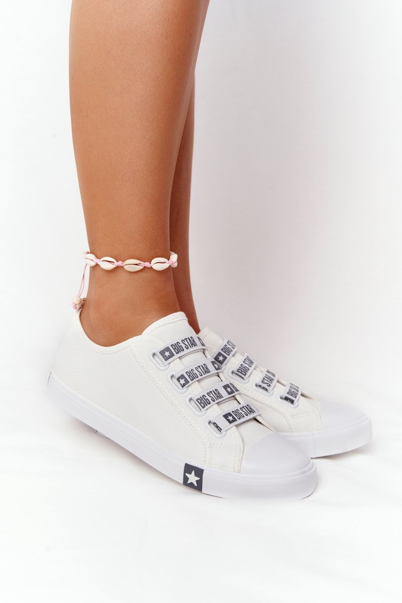 Women's Sneakers With Drawstring BIG STAR HH274094 White