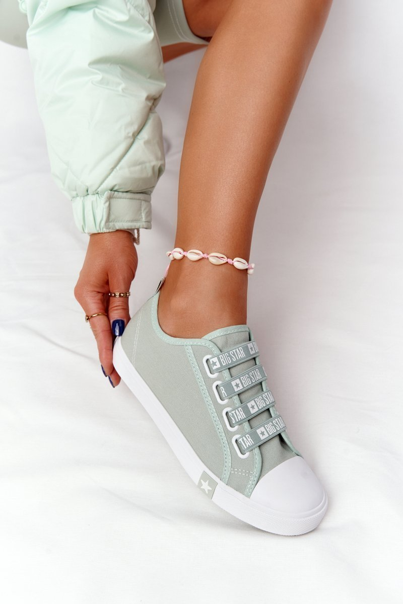 Women's Sneakers With Drawstring BIG STAR HH274097 Green