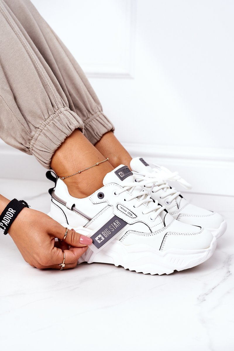 Women's Sport Shoes Big Star GG274213 White-Grey