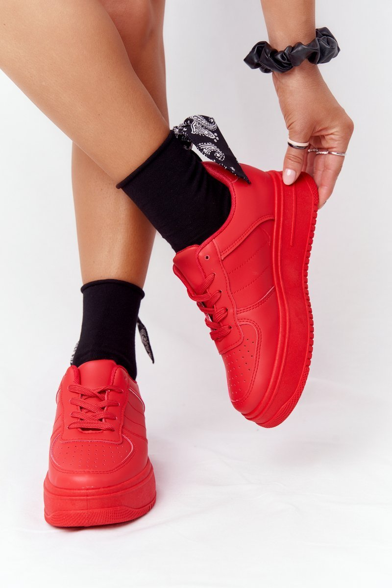 Women's Sport Shoes On A Platform Red This Is Me