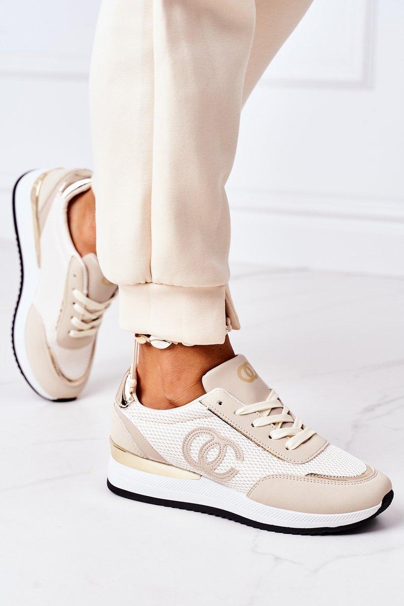 Women's Sport Shoes Sneakers Beige Under Control