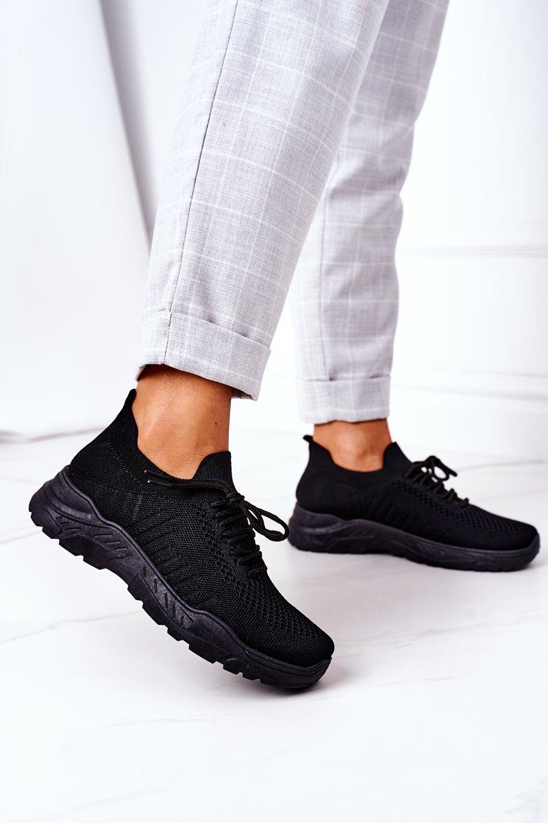 Women's Sport Shoes Sneakers Black Ruler