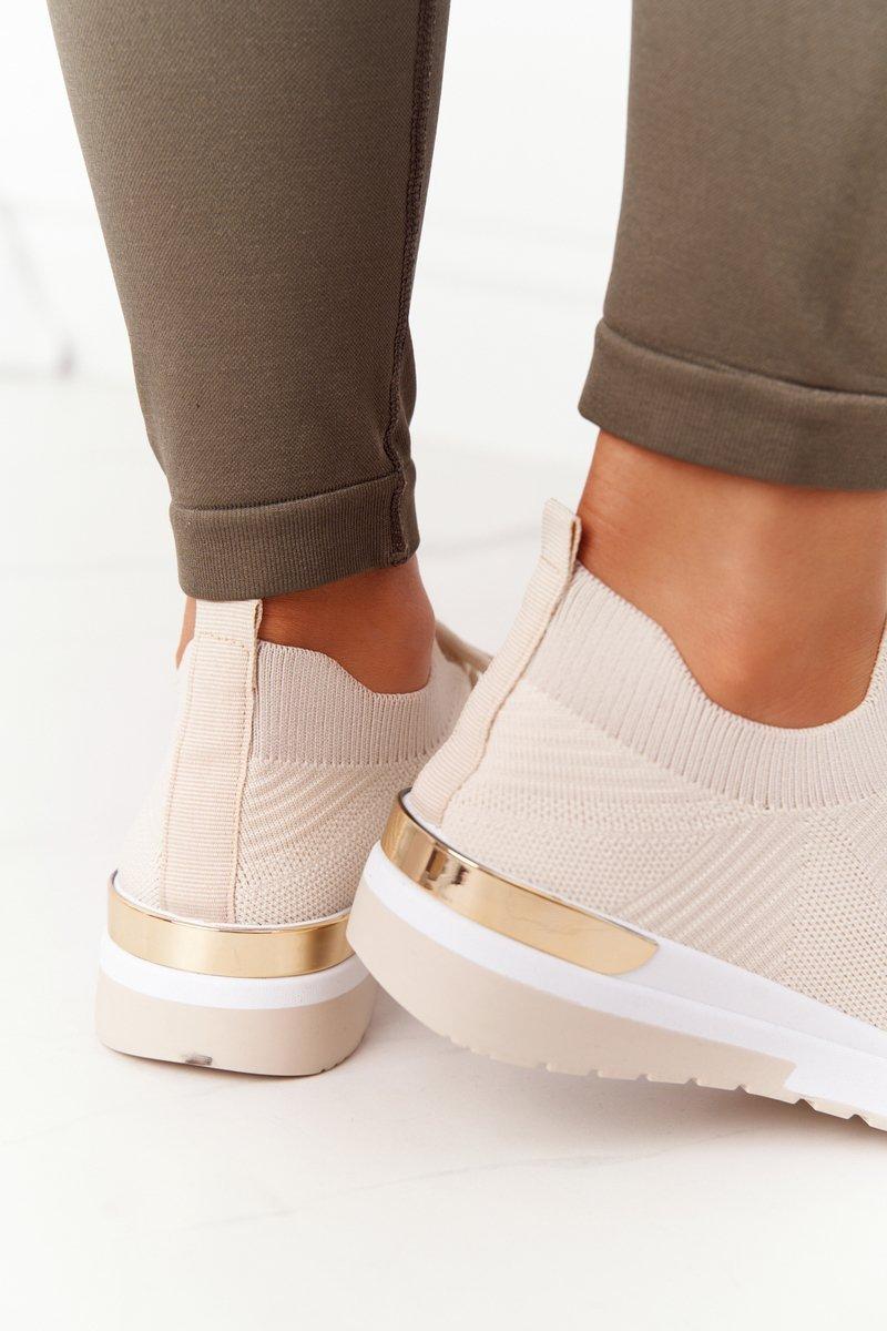 Women's Sport Shoes Wedge Sneakers Beige Adeyla