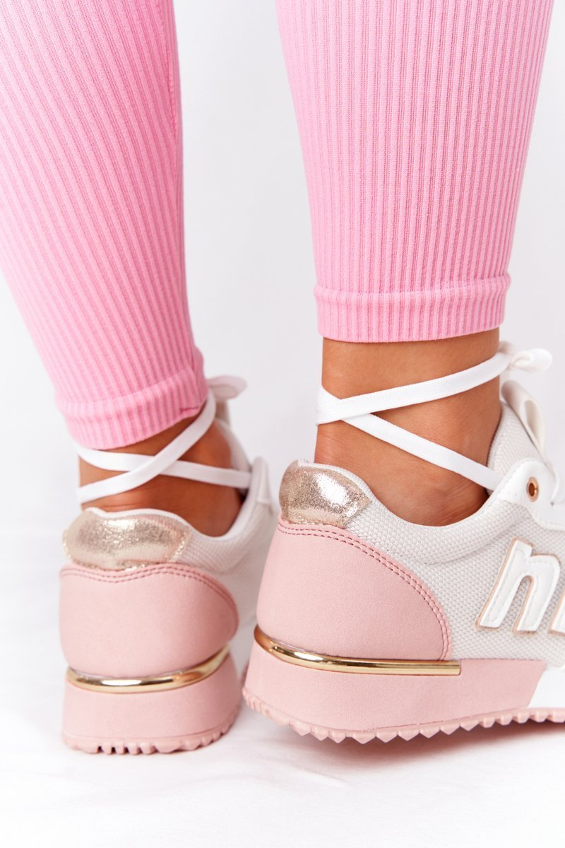 Women's Sports Shoes Sneakers White-Pink Maddie