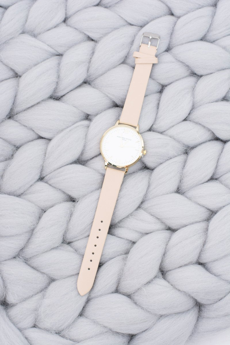 Women's Stylish Classic Beige Watch