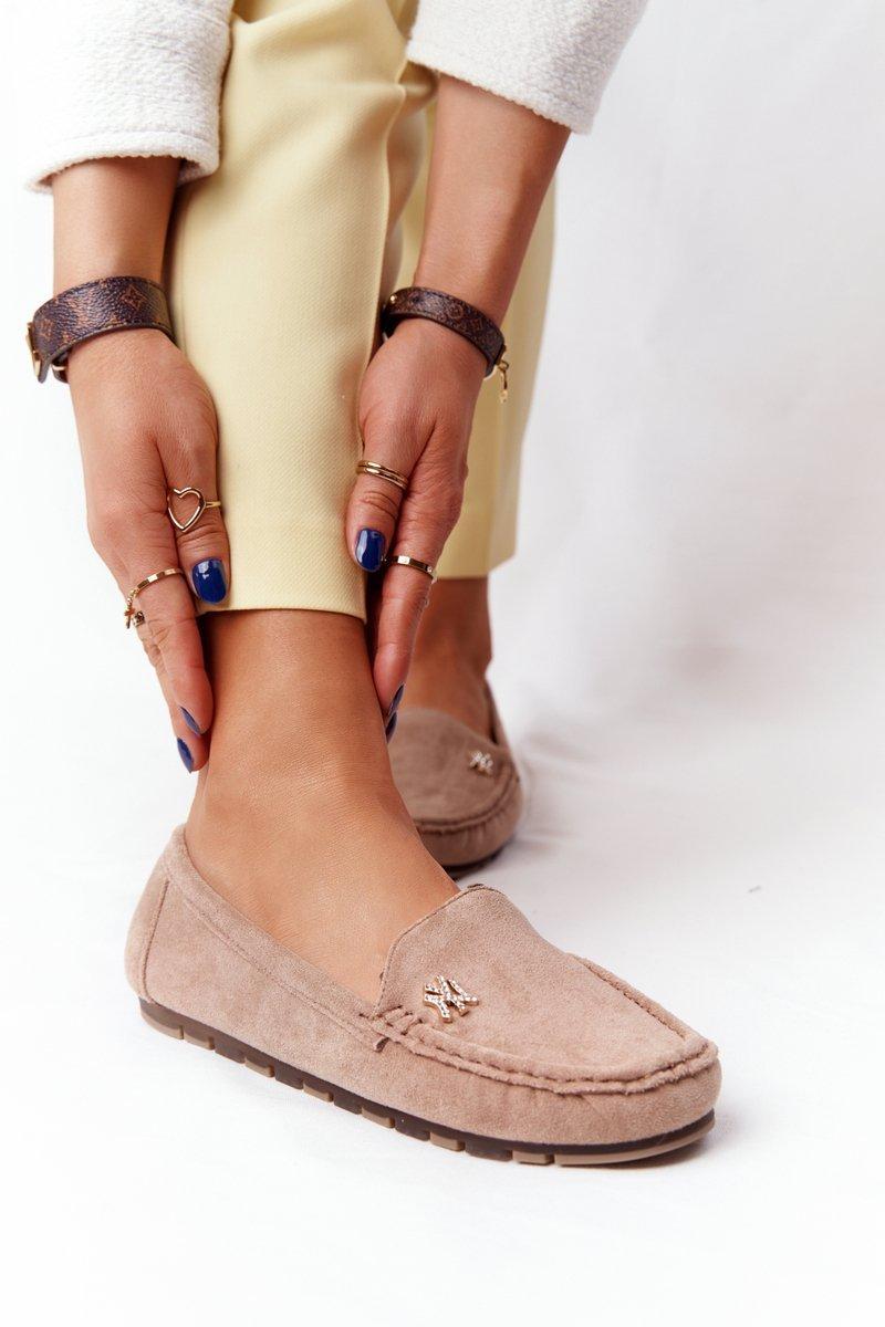 Women's Suede Loafers Beige Madelyn