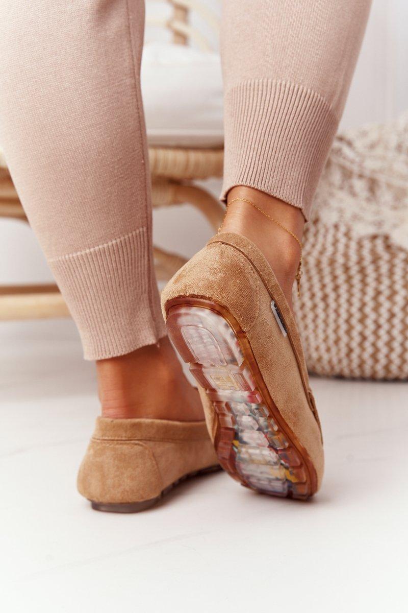 Women's Suede Loafers Beige San Marino