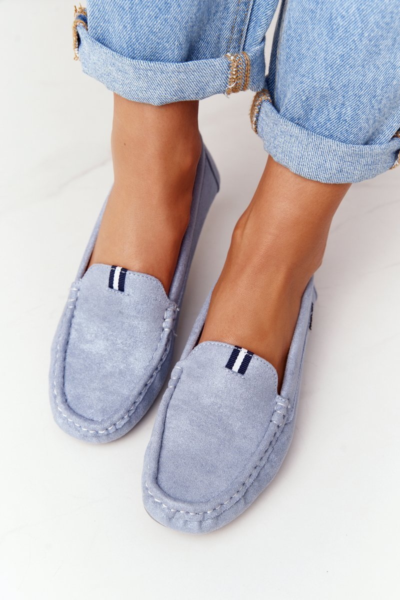 Women's Suede Loafers Blue San Marino