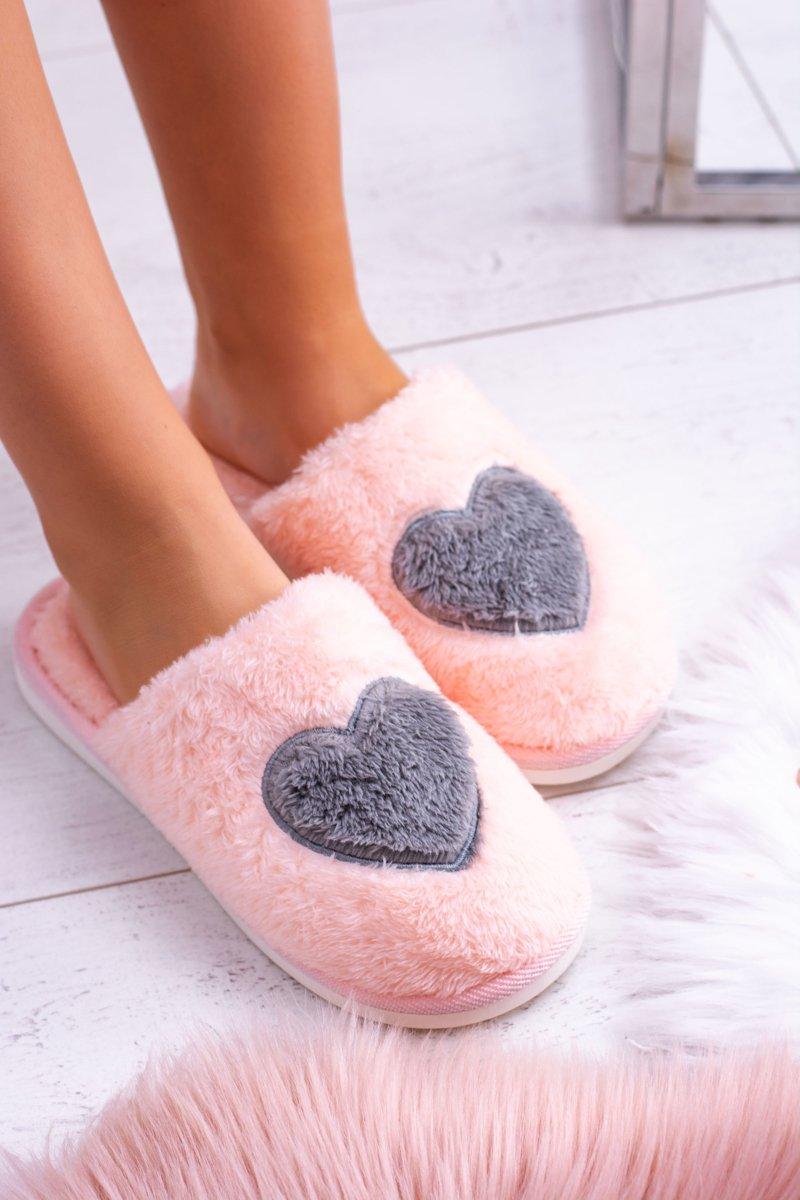 Women's Warm Pink Soft Slippers