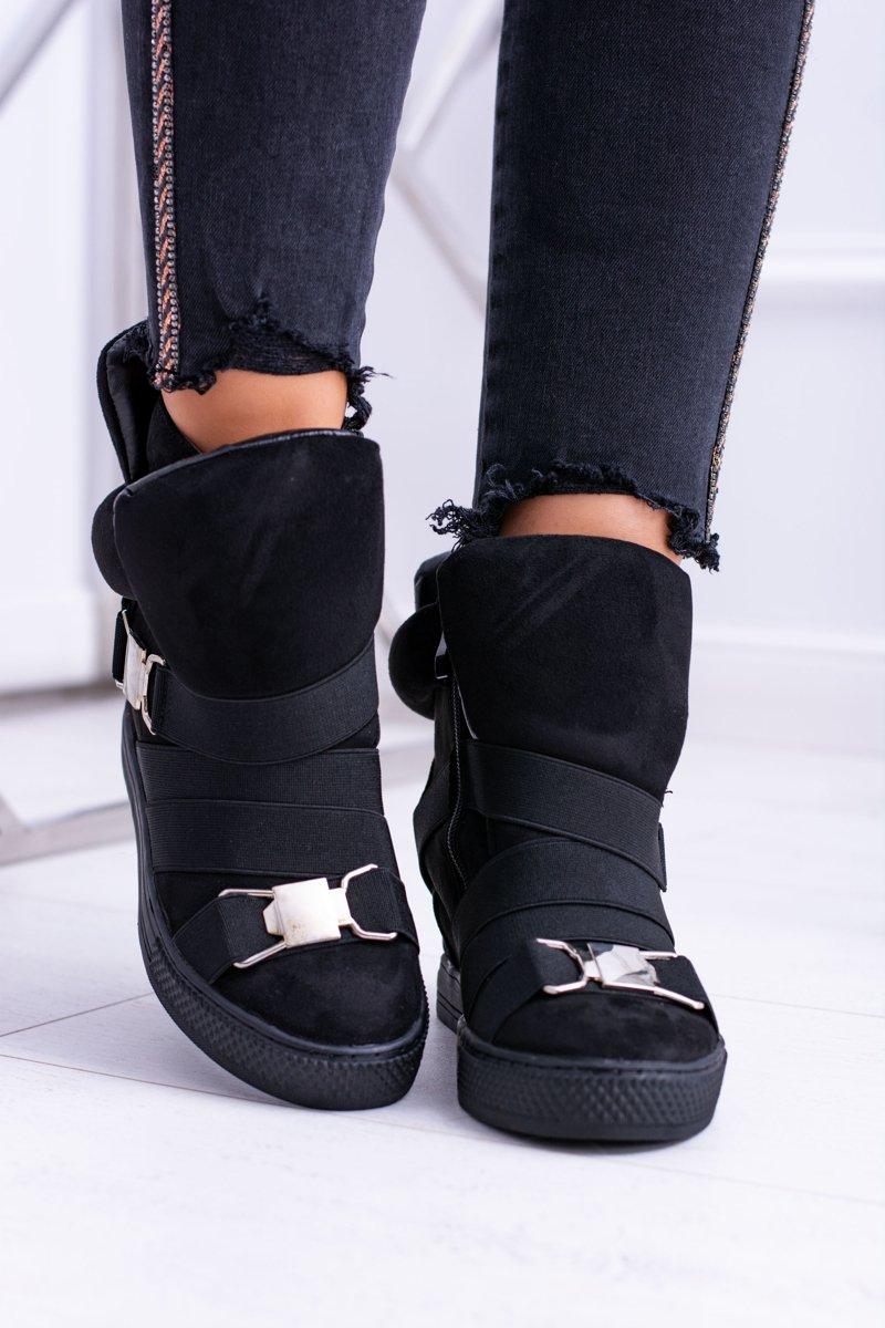 Women's Wedge Sneakers Lu Boo Black Pumpes