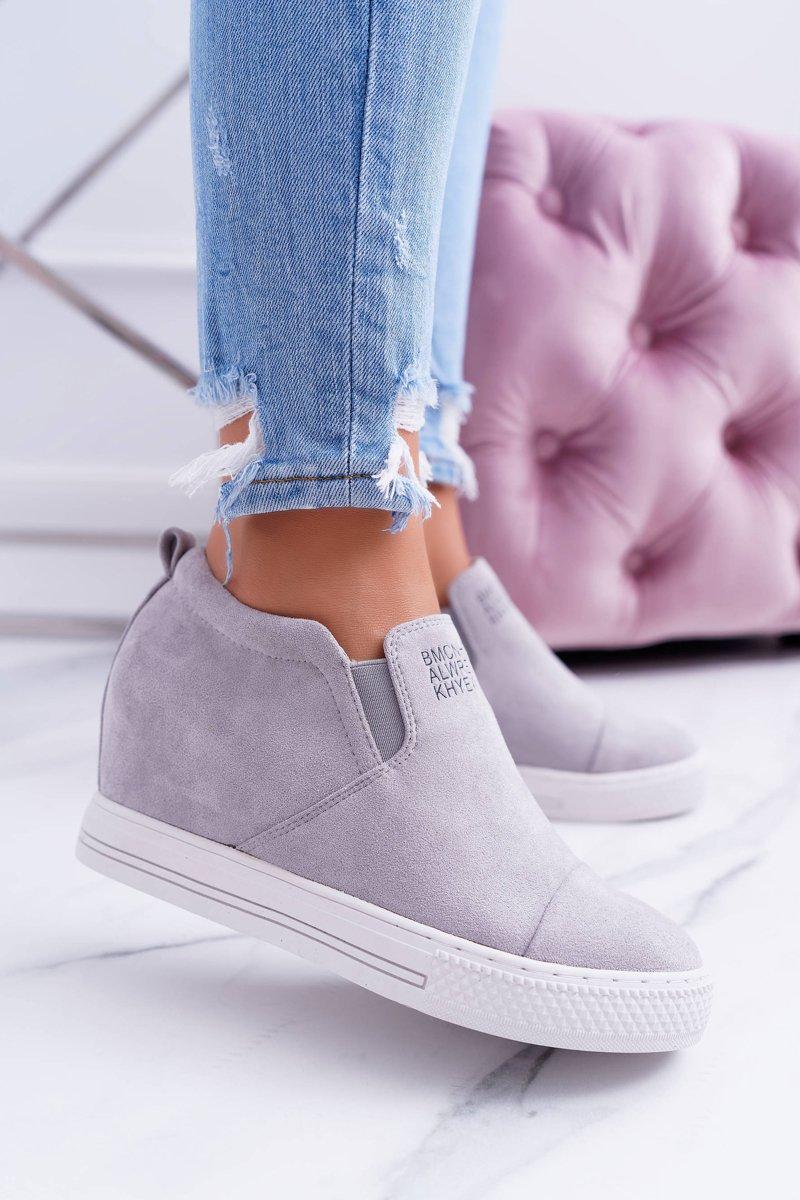 Women's Wedge Sneakers Lu Boo Grey Kaori