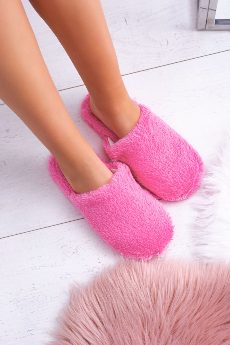 Women's fur slippers Dark pink Mimia