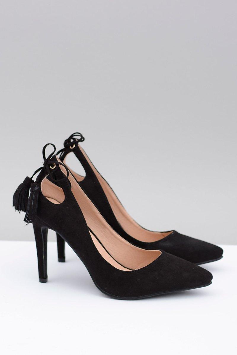 Women's stilettos Lu Boo Black Suede Loona