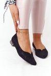 Ballerinas On Silver Heels Vinceza 21-10601 Black