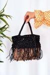 Braided Handbag Basket NOBO XK0050 Black