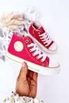 Children's High Sneakers With A Zipper BIG STAR HH374137 Pink